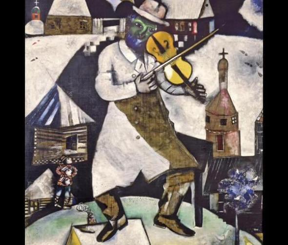Il violinista, di Marc Chagall