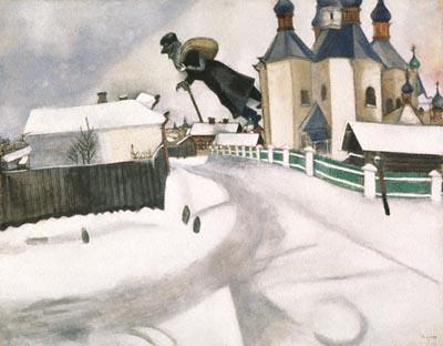 Su Vitbesk, di Marc Chagall
