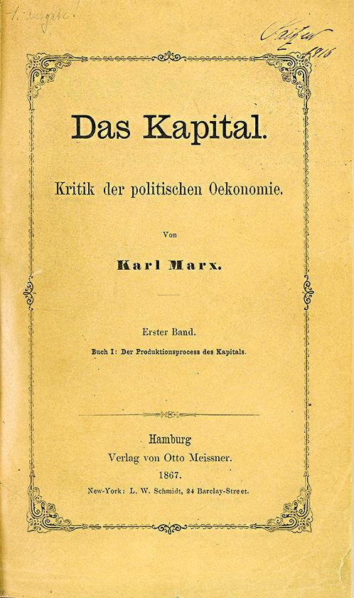 Karl Marx, Il capitale (Das Kapital)