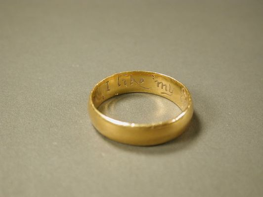Posy ring, possible 18th century