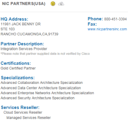 Cisco Gold Partner Profile