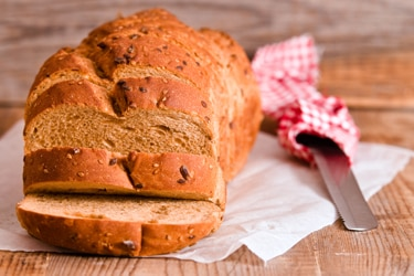 Loaf of whole-wheat bread