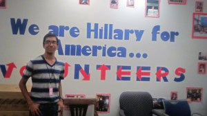 Nidhin Hillary for America Election HQ in Brooklyn