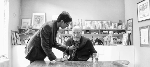 Nidhin with Milton Glaser