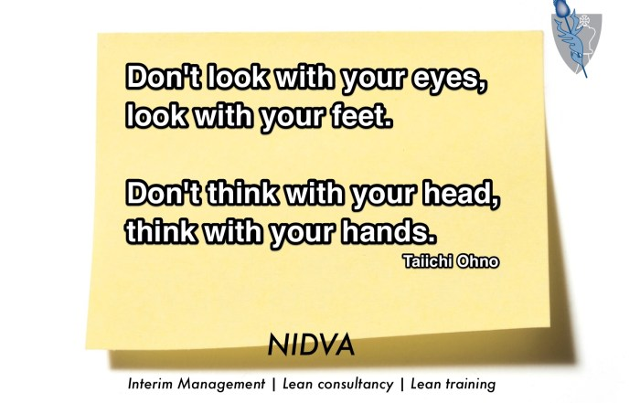 Don't look with your eyes, look with your feet