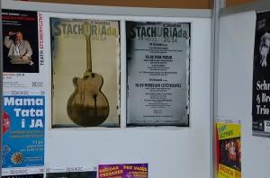Po wystawie zostały tylko plakaty Stachuriady.
