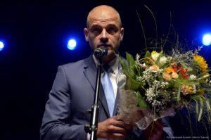 """Jeden z laureatów """"Włóczni Jaćwingów"""" za 2014 rok - Wojciech Kowalewski."""