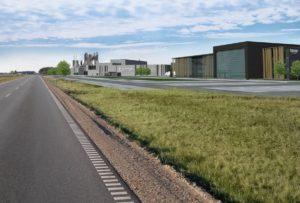 Wizualizacja inwestycji Forte (Tanne) w Suwalskiej Specjalnej Strefie Ekonomicznej.
