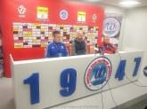 18 X 2019 ; Suwałki - Stadion Miejski; I liga, Wigry S. - Odra Opole 1:0; konferencja prasowa © 2019 Wojciech Otłowski
