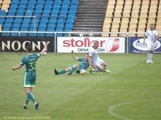 05 VI 2020 ; Suwałki - Stadion Miejski; I liga, Wigry S. - Miedź Legnica 1:1; faulowany Kacper Wełniak. © 2020 Wojciech Otłowski