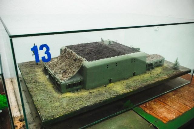 Hitlerio bunkerio maketas Saugumo Tarnybos (RSD) pastate
