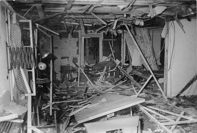 Pasitarimų kambarys po sprogimo