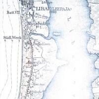 Pietinė tvirtovės dalis vokiškame žemėlapyje (apie 1900 m.)