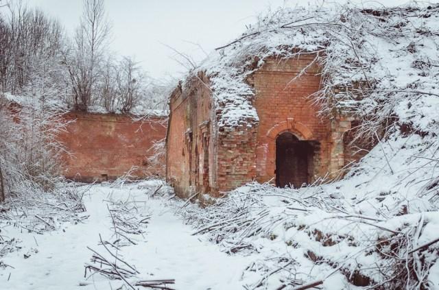 Amunicijos sandėlis kairiajame forto kampe