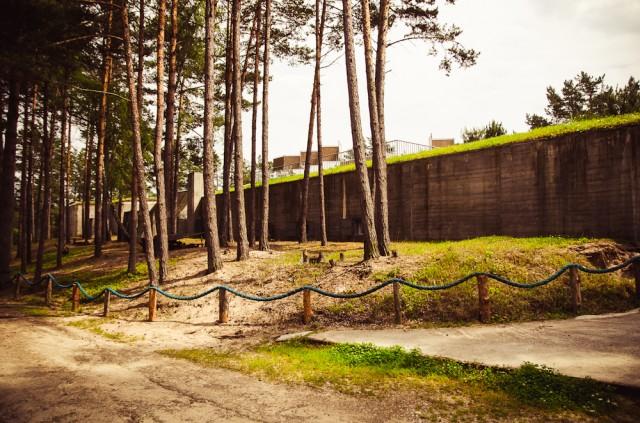 Štai ir pabūklo pozicijos bunkeris