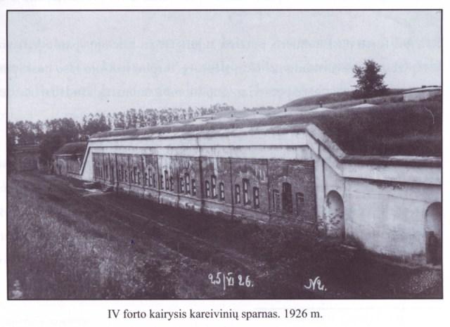 IV forto kairysis kareivinių sparnas. 1926 m.