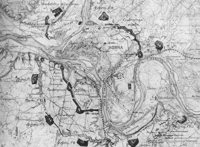 Kauno tvirtovės žemėlapis