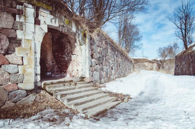 Pakeliami vartai sovietmečiu pakeisti į laiptelius