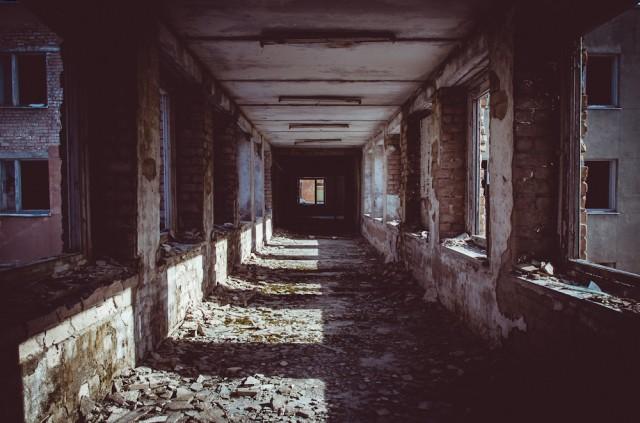Koridorius į auditorijų korpusą