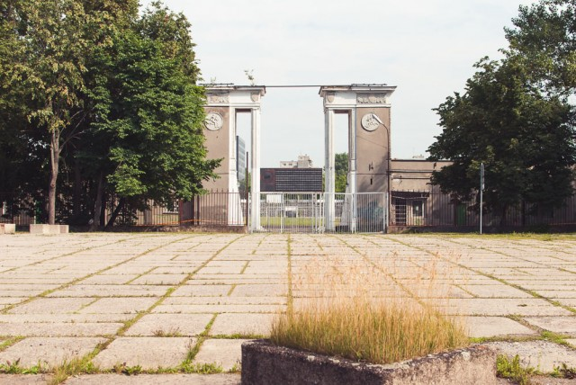 Paskutinė II PK pabaigoje matomų kapinių likučių vieta - sporto rūmų užnugaris