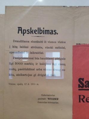 I-ojo pasaulinio karo Lietuvos plakatai