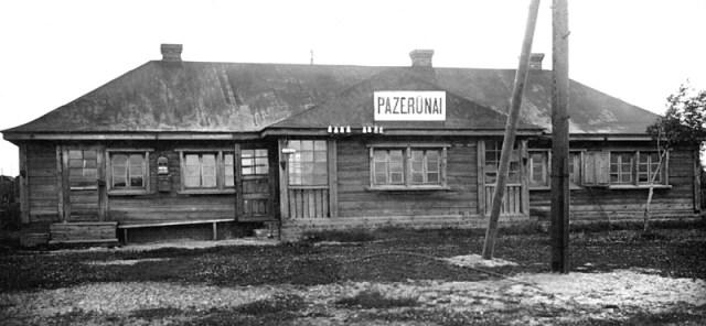 Pazerūnų (Požerūnų) geležinkelio stotis 1923 m. (Šaltinis: miestai.net)