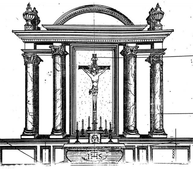 Iliuzinio altoriaus brėžinys