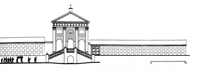 Bernardinų kapinių koplyčios ir kolumbariumo schema