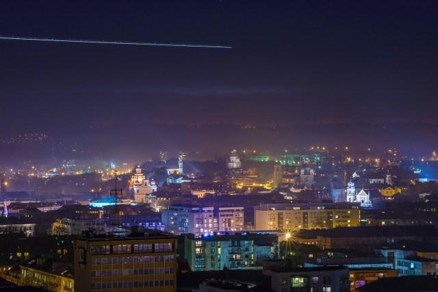 Į Vilniaus or uostą leidžiasi lėktuvas