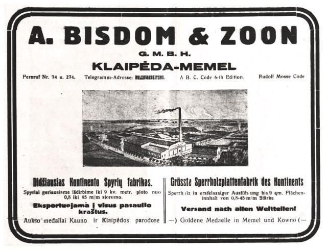 A. Bisdom & Zoon, G. m. b. H. (1928 m.)
