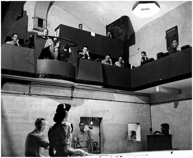 RAF operacijų kambarys darbo metu