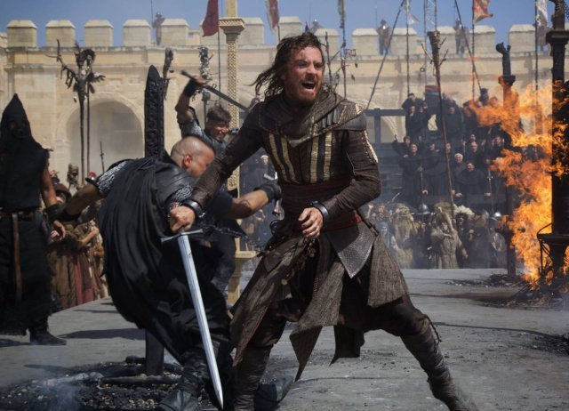 "Filmo ""Assassin's Creed"" filmavimo scena"