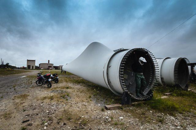 Milžiniškas vėjo jėgainės sparnas