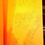 Cameron K McKewan's book signed