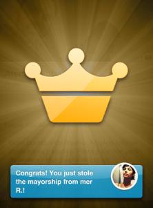 Foursquare mayor popup