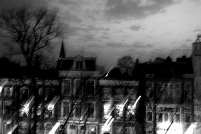 Oudegracht bij nacht