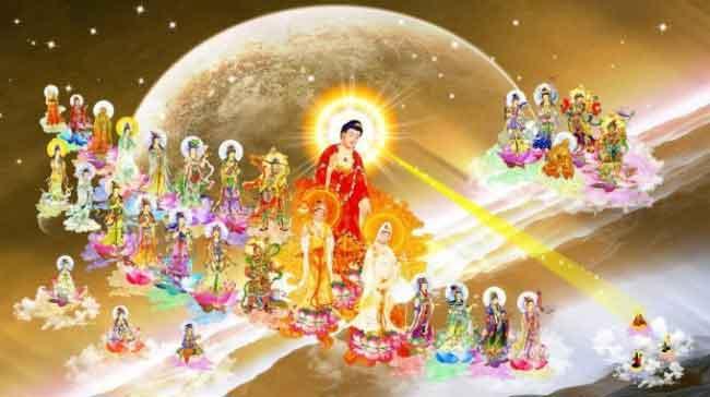 Hình đại diện Đức Phật A Di Đà và cõi Tịnh Độ Cực Lạc