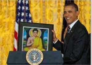 Hình đại diện Tổng thống Obama thỉnh Phật vào nhà trắng