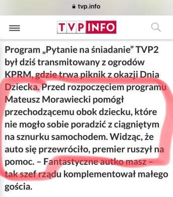propaganda tvp Morawiecki Dzień Dziecka