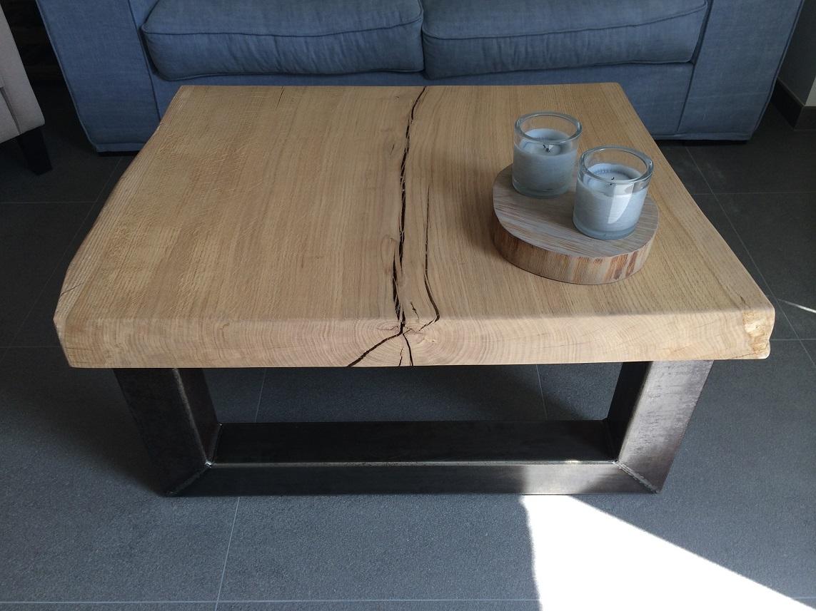 Boomstam salontafel Eikenhout  NietZoMaarHoutnl