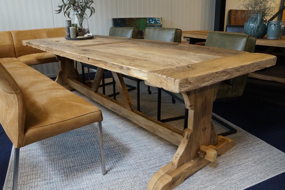 Unieke oud Eiken tafel Jumbo  NietZoMaarHoutnl