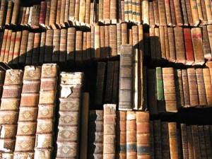 Kast vol oude boeken. Copyright foto: Joël Dietle
