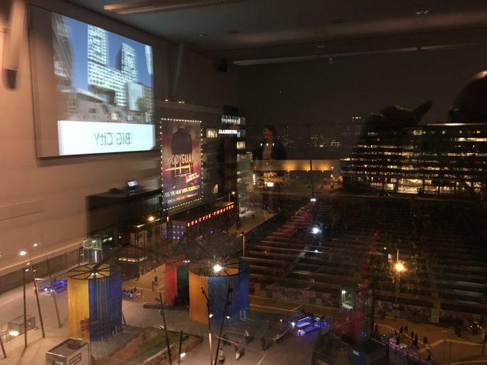 Uitzicht vanaf de 6e verdieping van het Stadskantoor