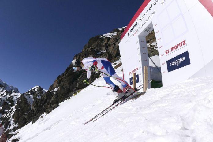 La salida del descenso de masculino de St. Moritz está en una pendiente con un desnivel de 45 grados FOTO: www.stmoritz2017.ch
