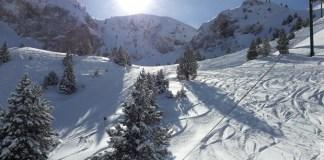 Masella con nieve polvo