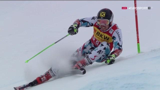 Marcel Hirscher no ha podido celebrar su podio número cien en el cajón más alto FOTO: Eurosport