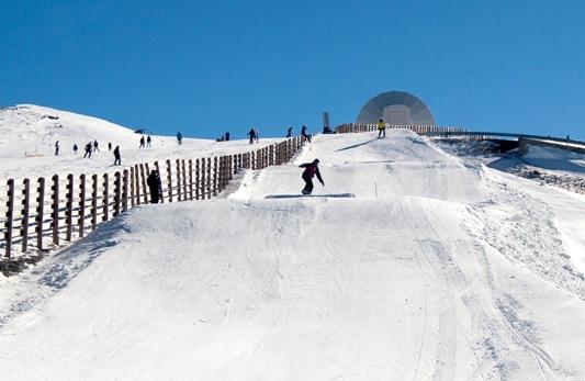 Pista de slopestyle de Sierra Nevada