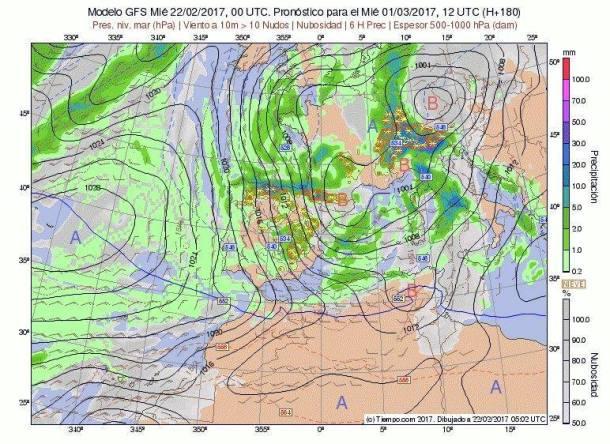 La previsión meteorológica avista un cambio de tiempo con nevadas
