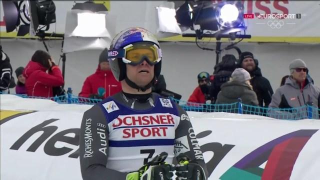La cara de Alexis Pinturault tras concluis su segunda bajada lo dice todo FOTO: Eurosport