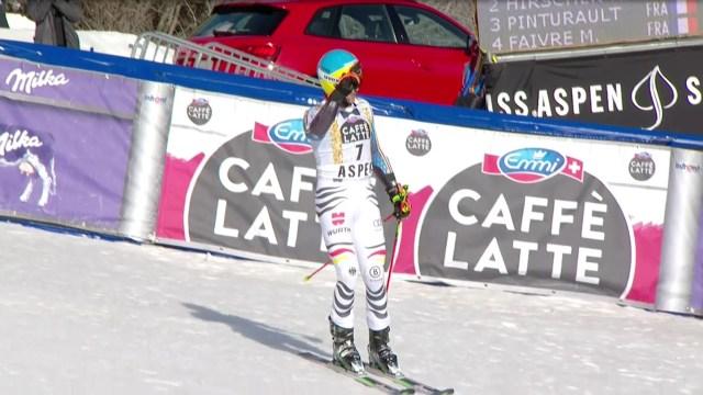 Felix Neureuther ha sido el más rápido en la primera bajada pero no ha podido con Hirscher FOTO: Eurosport